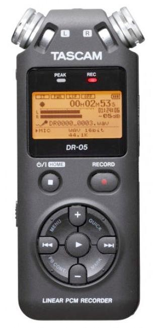 Tascam DR-05V2 (A051766) - цифровой диктофон (Black) tascam tc 1s black