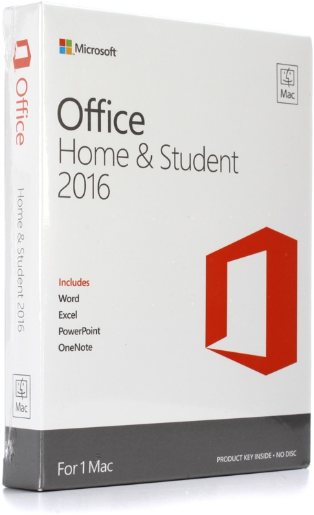 Microsoft Office Mac Home and Student 2016 All Languages GZA-00665