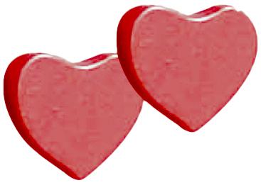 Baby Italia - ручки-сердечки для комода (Rosso)