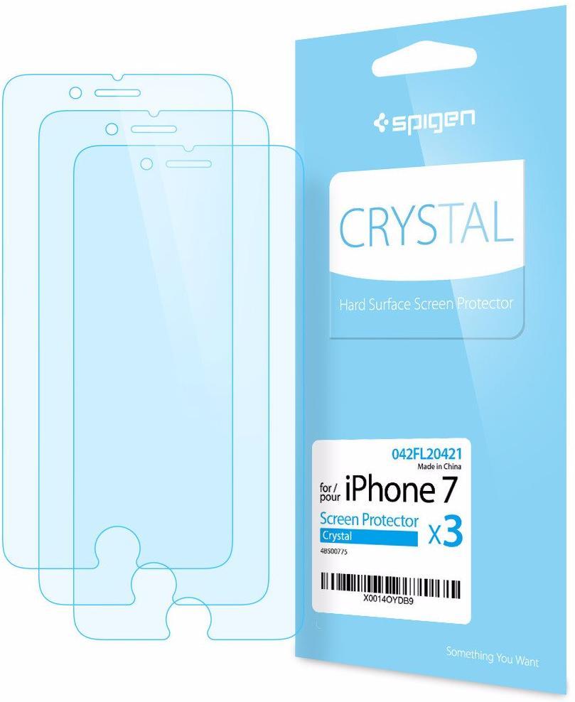 Spigen Crystal (042FL20421) - комплект защитных пленок для iPhone 7 (Crystal Clear)