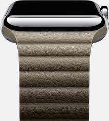 Apple Watch 42mm - умные часы для iPhone (Stainless Steel Case/Stone Leather Loop Medium)