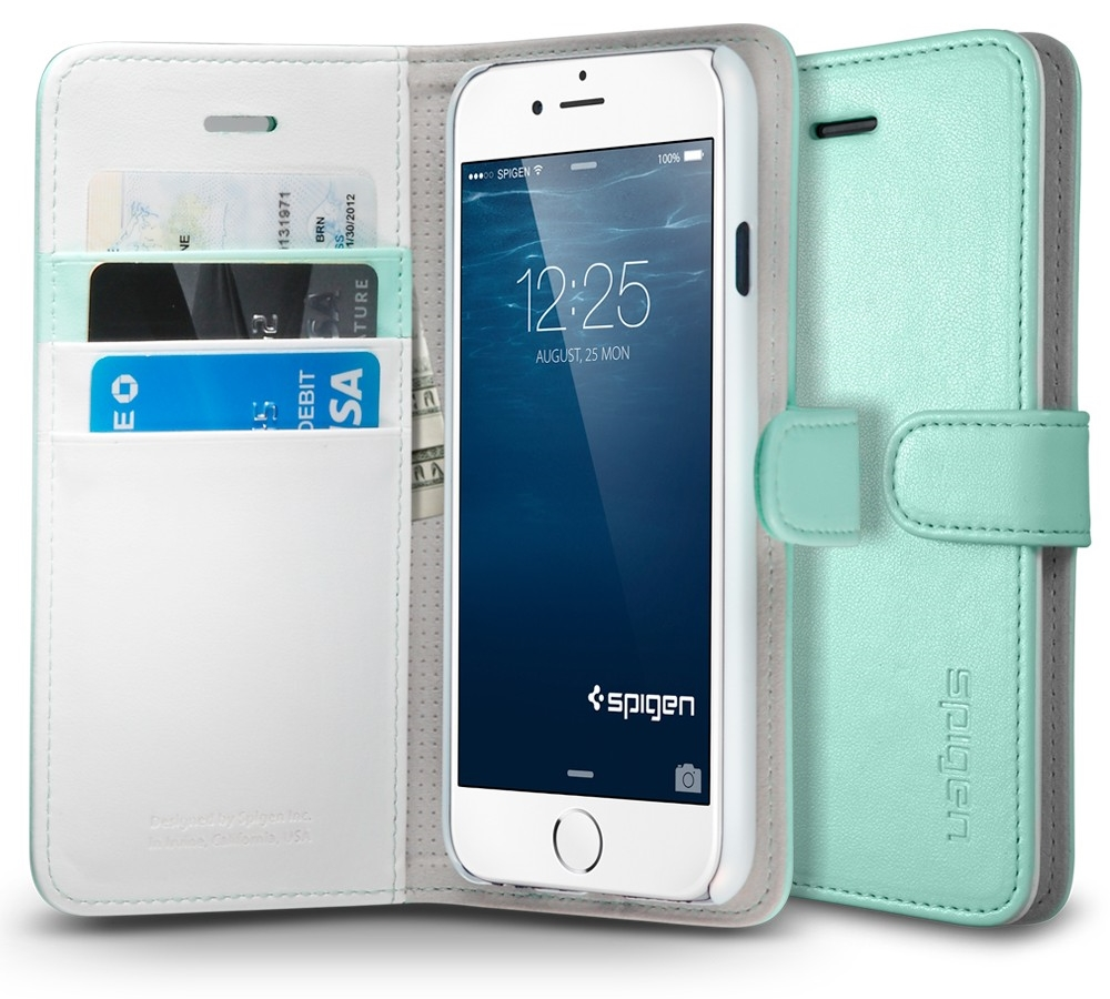 """Spigen Wallet S (SGP10974) - чехол-книжка для iPhone 6 4.7"""" (Mint)"""
