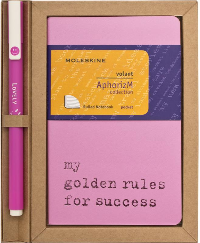 Moleskine Volant My golden rules for success SETQP713GR
