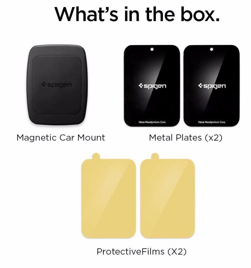 Магнитный автомобильный держатель Spigen Kuel H12 Hexa-Core Magnetic Air Vent Car Mount 000CD20115 (Black)