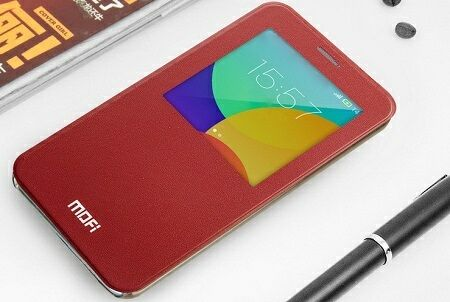 Mofi Genuine Leather Series Slim Case Flip Cover - чехол для Meizu MX4 Pro (Red)