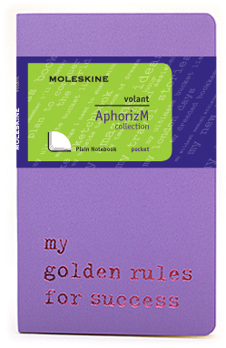 Moleskine Volant My golden rules for success QP713H/1GR
