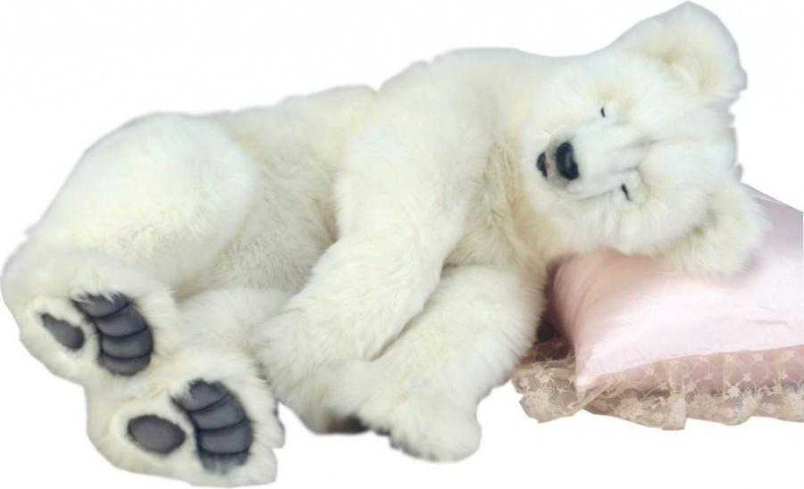 Hansa Медведь полярный спящий (4922) - мягкая игрушка hansa мягкая игрушка попугай