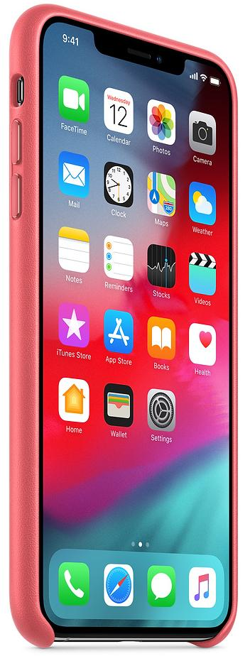 Чехол Apple Leather (MTEX2ZM/A) для iPhone Xs Max (Peony Pink)