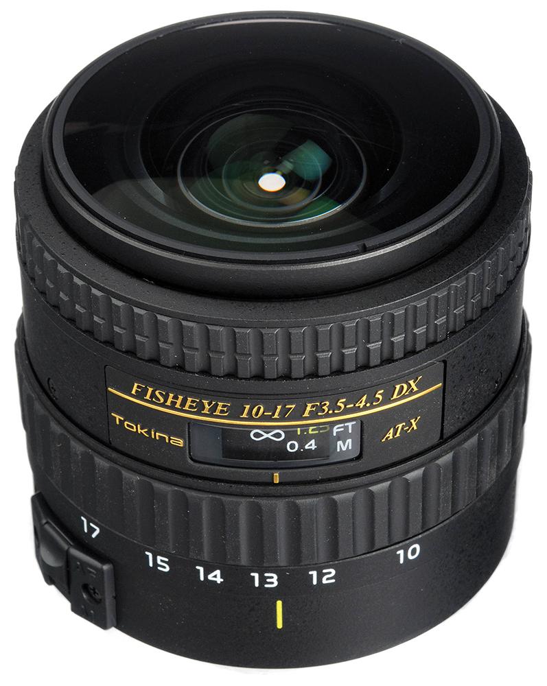 Tokina AT-X 107 AF 10-17mm f3.5-4.5 DX NH Fish-eye - объектив для фотоаппаратов Canon