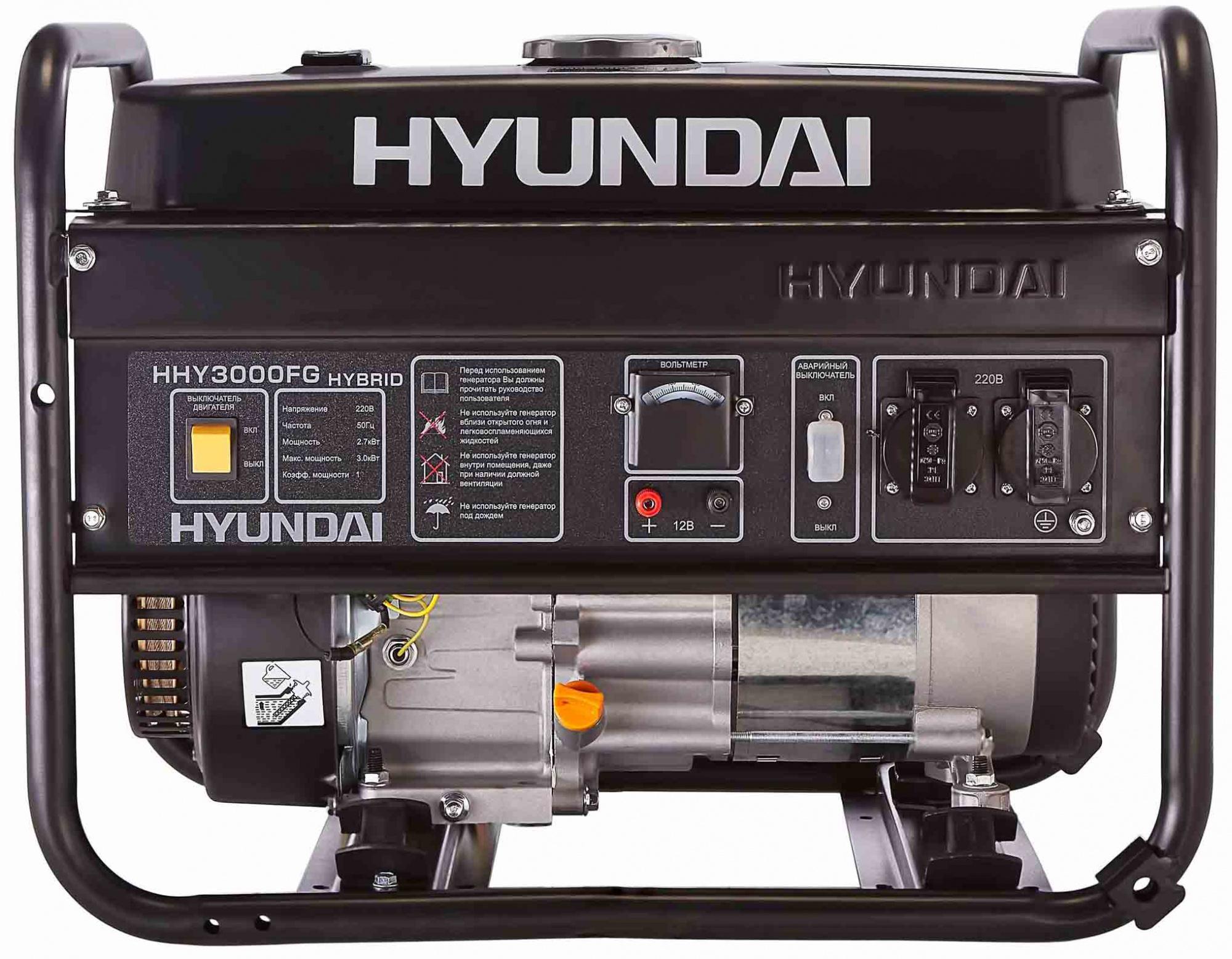 инструкция на генератор hyundai hhy3000fg