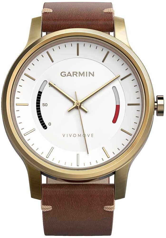 Спортивные часы Garmin Vivomove Premium 010-01597-21 (Gold/Brown)