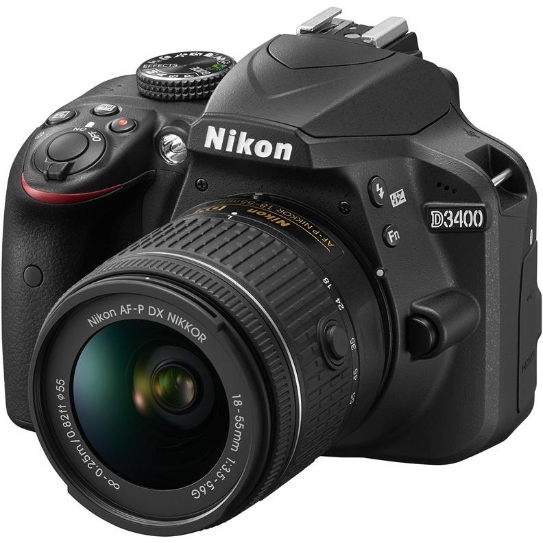 Nikon D3400 Kit 18-55 AF-P (VBA490K002) - цифровой зеркальный фотоаппарат (Black)