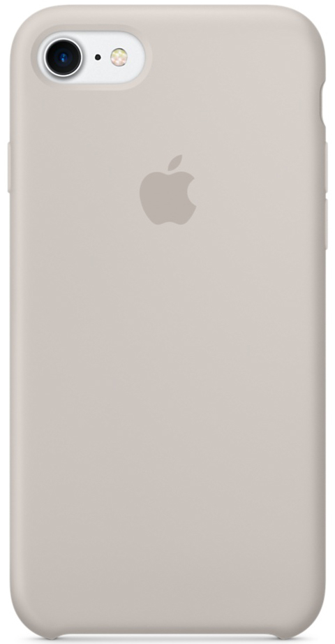 Apple Silicone Case (MMWR2ZM/A) - чехол для iPhone 7 (Stone)