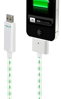 Dexim Visible Green Cable (DCA256CW) - сетевое зарядное устройство и кабель синхронизации iPhone/iPod/iPad (Green) нд