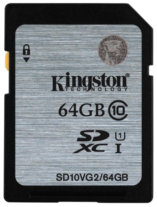 Kingston SDXC Class 10 U1 UHS-I 64Gb (SD10VG2/64GB) - карта памяти (Silver) sdxc kingston 64gb class10 g2 video sd10vg2 64gb