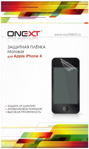 Onext 40288 - защитная пленка для iPhone 4/4S