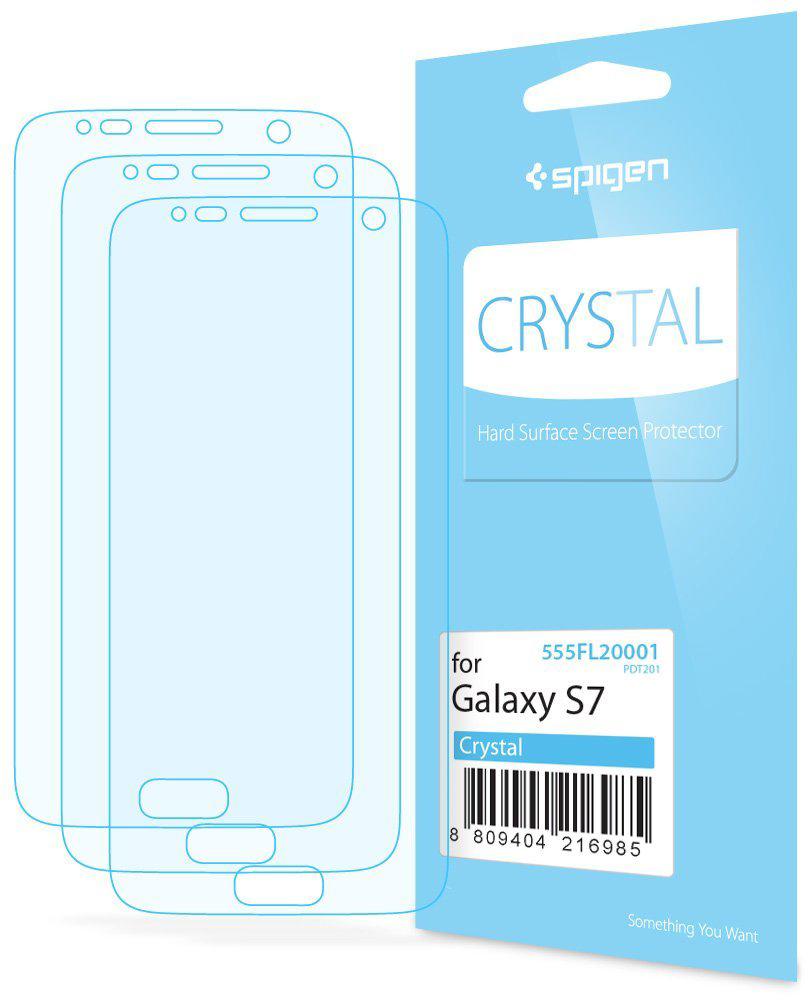 Spigen Crystal (555FL20001) - защитная пленка для Samsung Galaxy S7 (Clear)