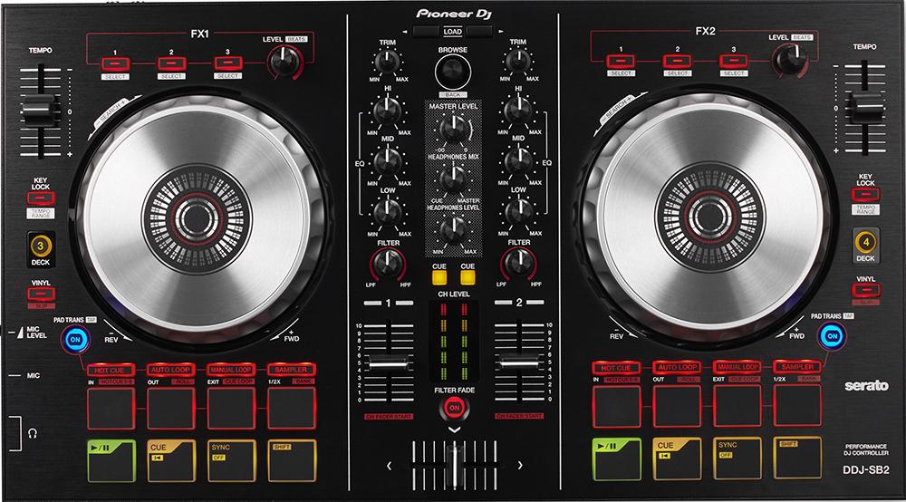 Pioneer DDJ-SB2 - DJ-контроллер (Black) сумка для cd и dvd плеера bubm sb dj gear dj bagpack ddj wego sb ddj sp cd dj ddj sb