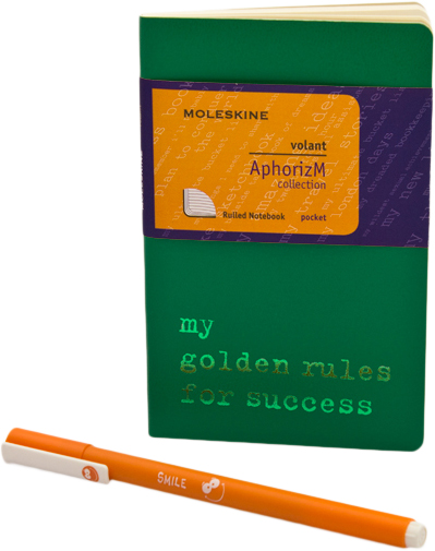 Moleskine Volant My golden rules for success SETQP711GR