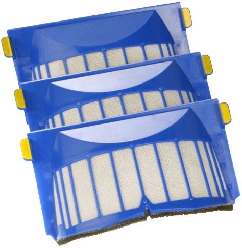 Фильтр для iRobot Roomba 564 и 600-й серии 3 шт (Blue)