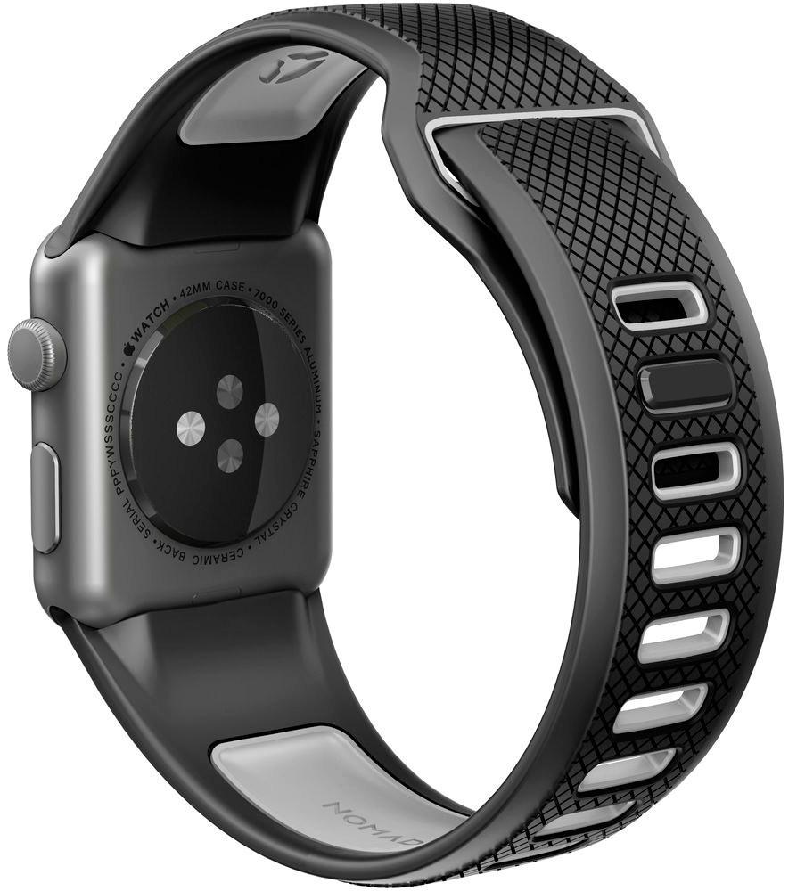 Ремешок Nomad Sport Strap (NM1A4B0100) для Apple Watch Series 2/3/4 42/44 mm (Black/Grey)