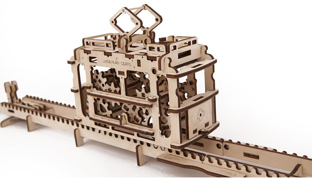 UGears Tram With Rails 70008