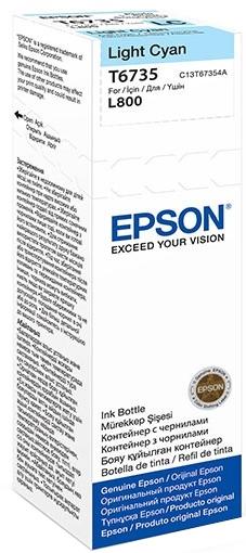 Epson T6735 (C13T67354A) - чернила для принтеров Epson L1800, L800 (Light cyan)