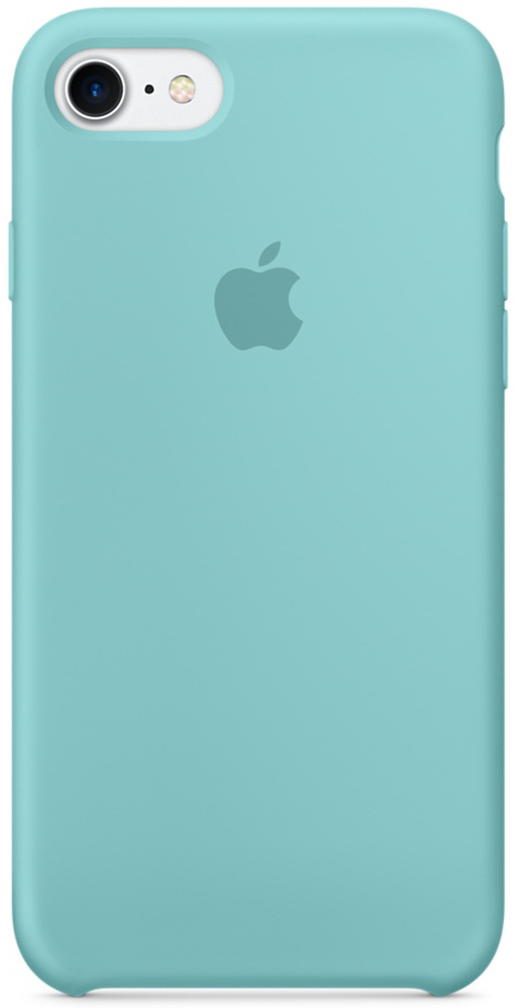 Apple Silicone Case (MMX02ZM/A) - чехол для iPhone 7 (Sea Blue) автомагнитола kenwood kmm 103gy usb mp3 fm 1din 4х50вт черный