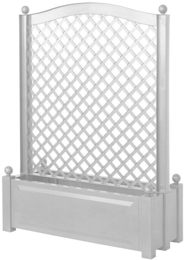 KHW 37101 - большой ящик для растений с центральной шпалерой 100 см (White)