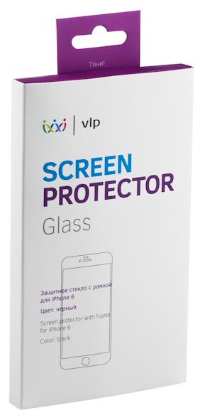 VLP - олеофобное защитное стекло с черной рамкой для iPhone 6