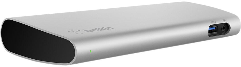 belkin Belkin Thunderbolt 3 Express Dock HD (F4U095TT) - расширитель портов с американской вилкой + переходник (Grey)