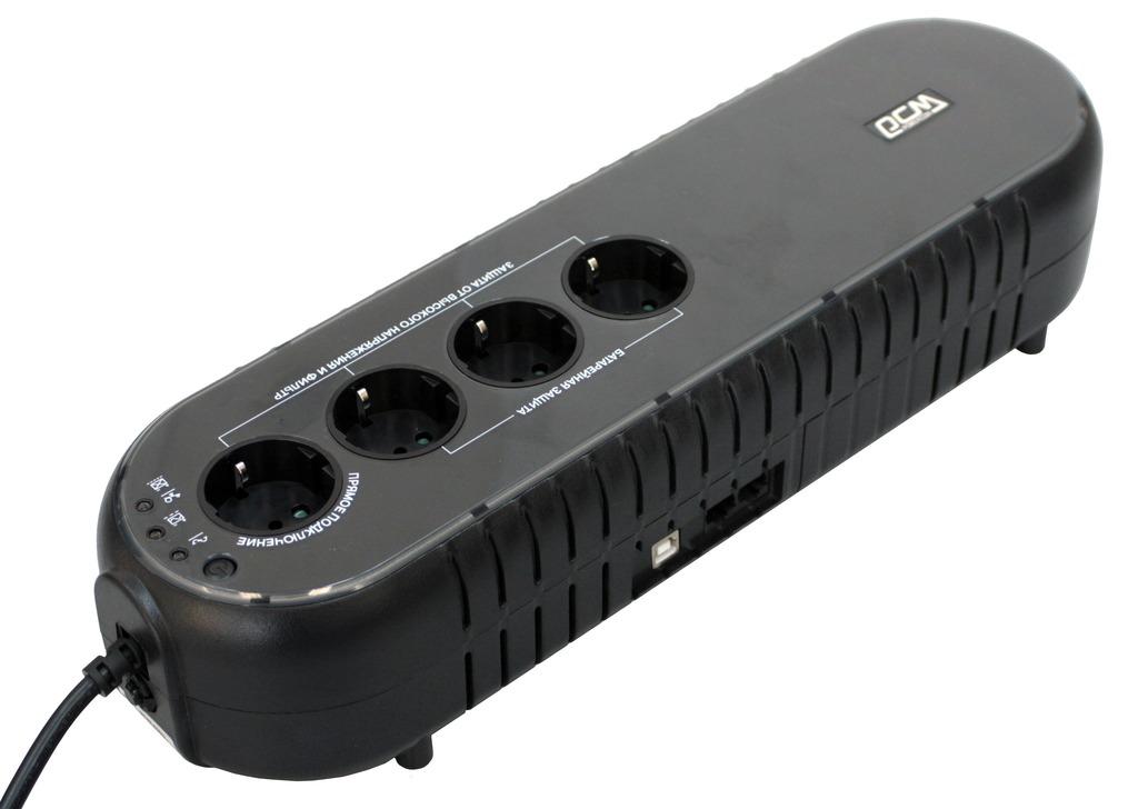 Powercom WOW-850U (78234) - источник бесперебойного питания (Black)Источники бесперебойного питания<br>Источник бесперебойного питания<br>
