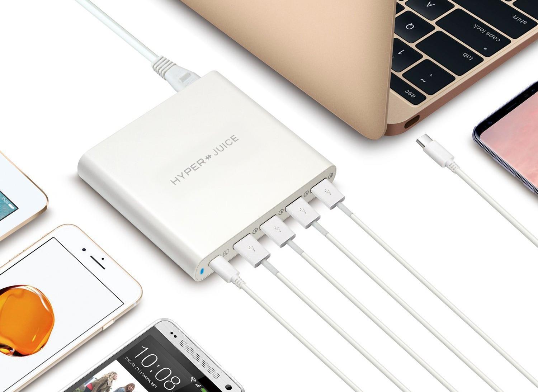 Сетевое зарядное устройство HyperDrive HyperJuice 80W USB-C/USB 3.0 HJ-Q5U-WHITE-EU (White)