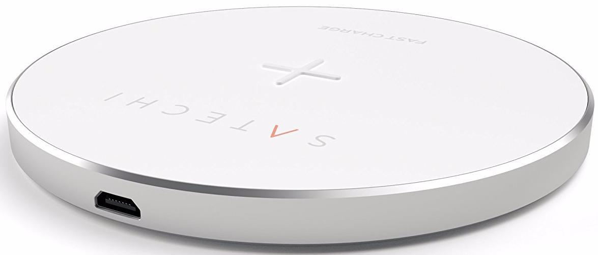 Беспроводное зарядное устройство Satechi Wireless Charging Pad (ST-WCPS) для iPhone 8/ 8 Plus/ X (White)