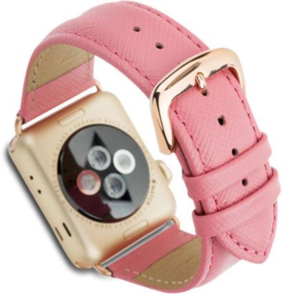 Сменный ремешок Dbramante1928 Mode Madrid (AW38LPGO5145) для Apple Watch 38mm (Lady Pink)
