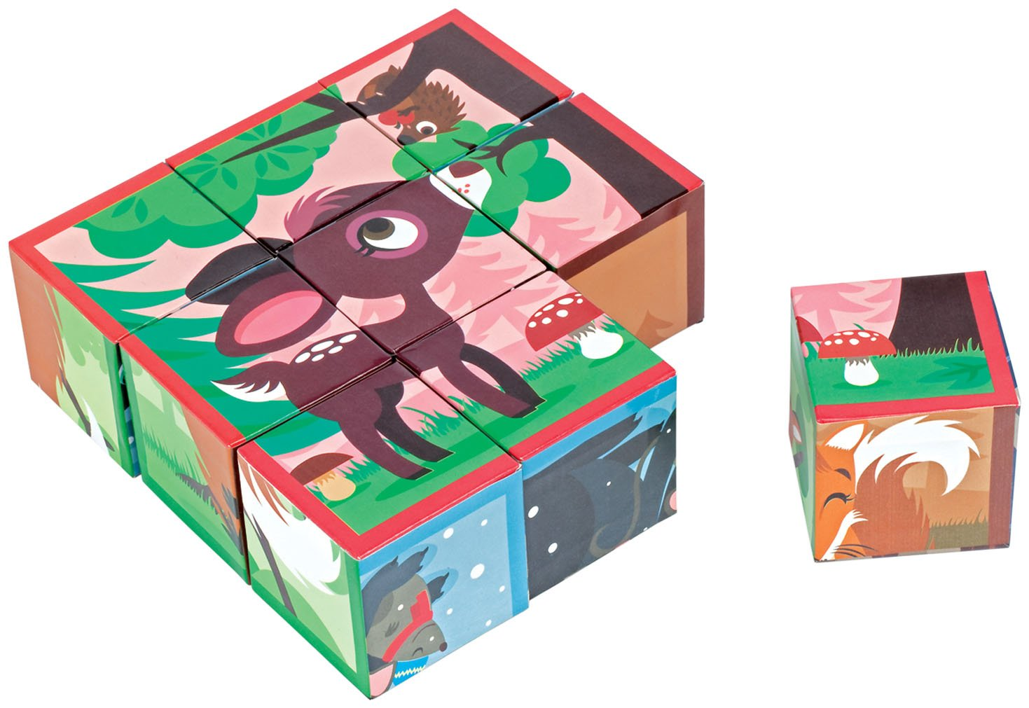 Кубики Janod Лесные животные (J02990)