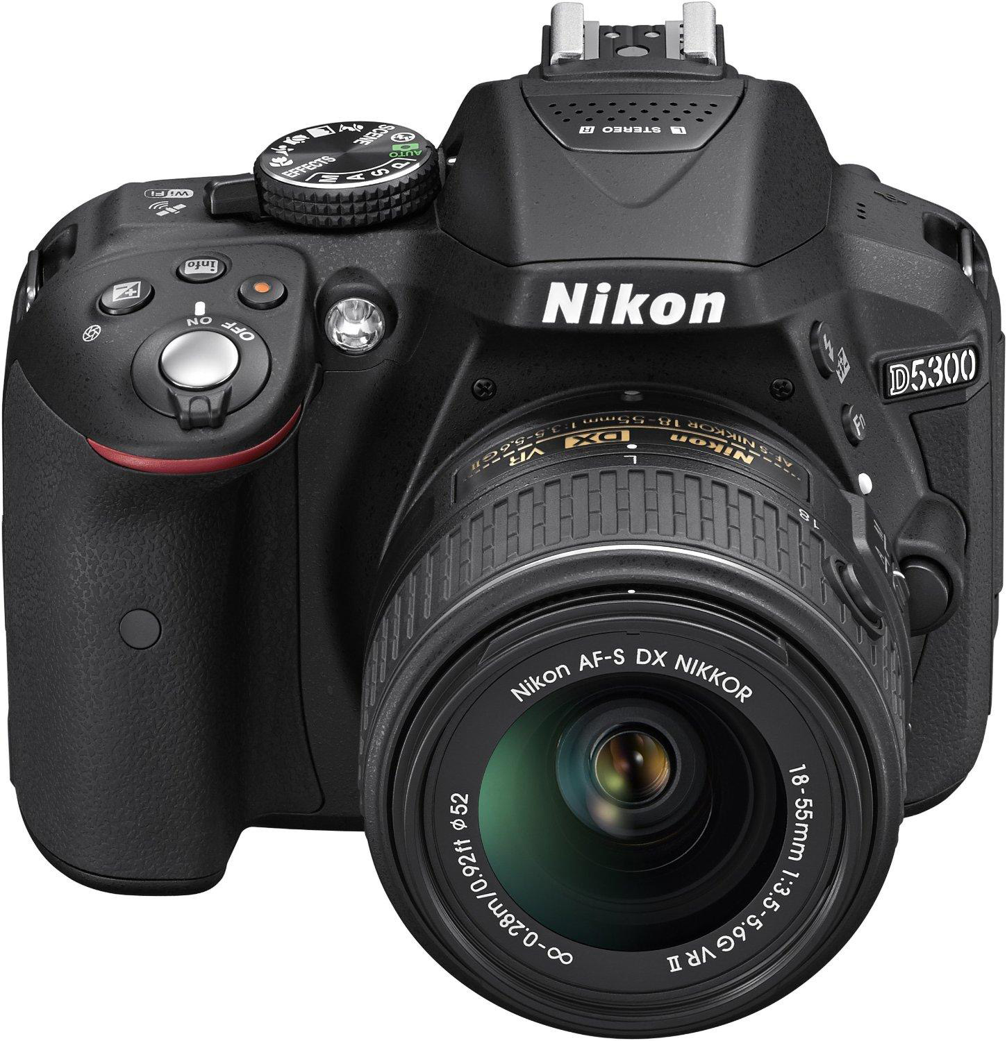 Фотоаппарат Nikon D5300 Kit (D5300 Body Black + 18-55 VR II Black) от iCover