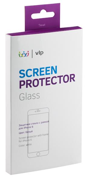 VLP - олеофобное защитное стекло с белой рамкой для iPhone 6