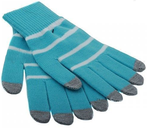 iCasemore Gloves (iCM_WhS-blu) - трикотажные перчатки (Blue) icasemore gloves icm smp blk кашемировые перчатки black