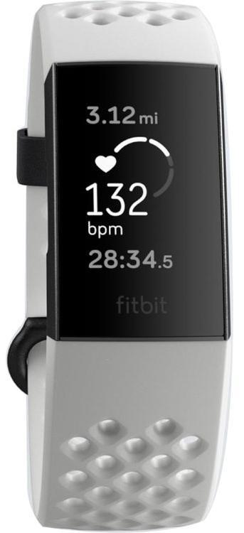 Спортивный браслет Fitbit Charge 3 Special Edition (Frost White/Graphite Aluminum)