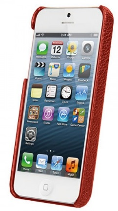 Vetti Craft Leather Snap Cover (IPO5LES1110109) - чехол для iPhone 5/5S/SE (Red) от iCover