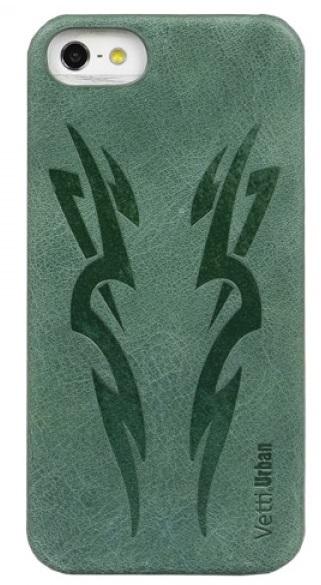 Vetti Urban myTattoo Leather Snap Cover - чехол для iPhone 5 (Classic Vintage Green)