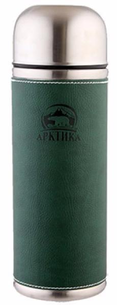 Арктика 0,7 л (108-700) - термос с узким горлом и кожаной вставкой (Зеленый)