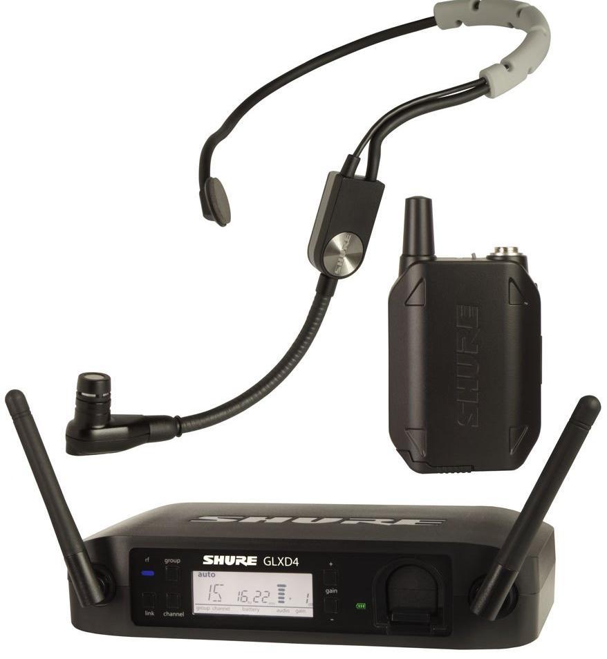ShureGLXD14E/SM35 (A051868) - цифровая радиосистема с головным микрофоном SM35 (Black) радиосистема с головным микрофоном shure blx14e p31 k3e