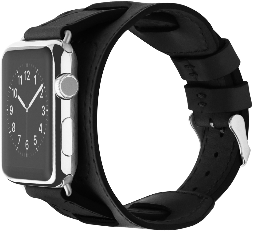 Cozistyle Wide Leather Band (CWLB10) - сменный ремешок для Apple Watch 42mm (Black)
