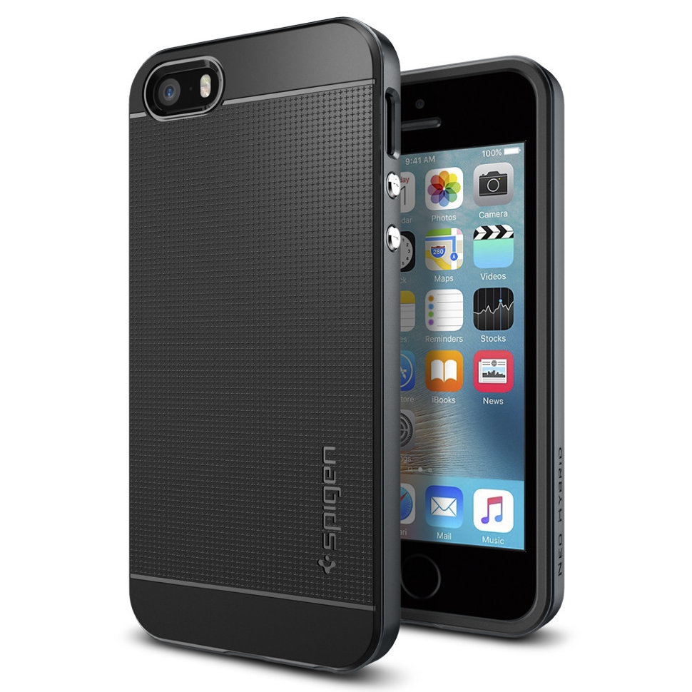 Spigen Neo Hybrid (041CS20253) - чехол для iPhone 5/5s/SE (Metal Slate)