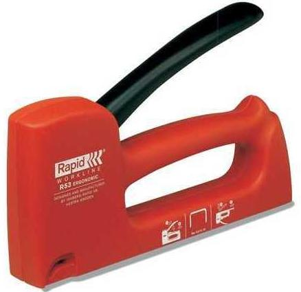 Rapid R53 WORKLINE RUS (5000060) - степлер ручной (Red)  ручной степлер rapid ms4 1 rus 5000065