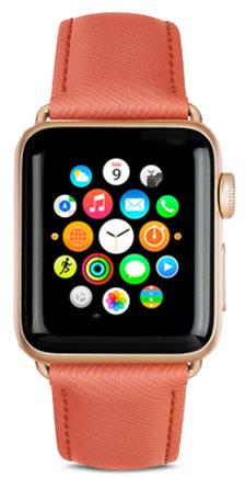 Сменный ремешок Dbramante1928 Mode Madrid (AW42RRGO5148) для Apple Watch 42 mm (Rusty Rose)