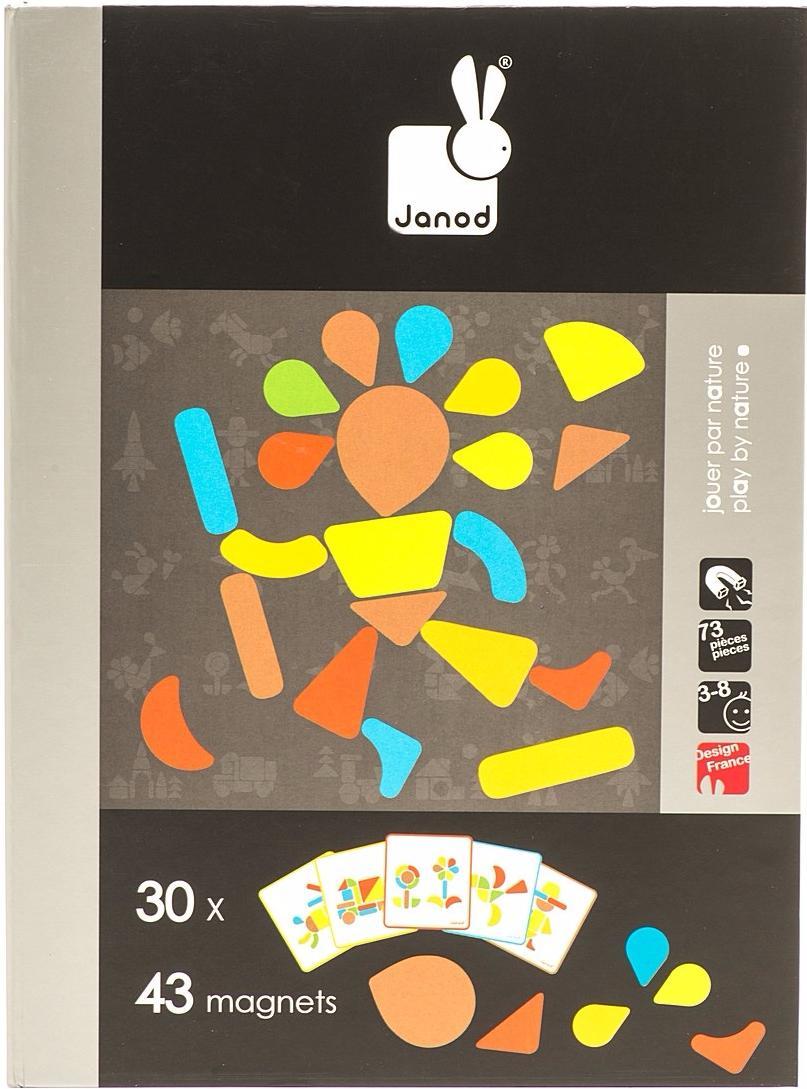 Janod Мозаика в геометрии (J02820) - магнитная книга-игра (Black)