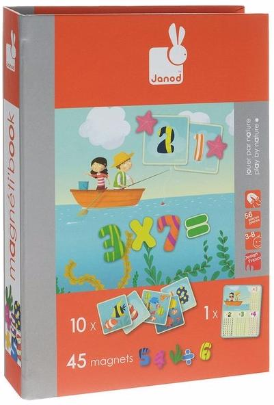 Janod Учимся считать (J02831) - магнитная книга-игра (Orange)